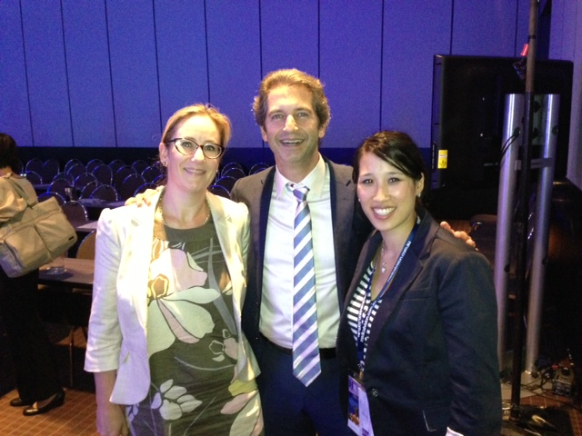 Dr. Brown with his previous fellows Meredith Simcock (New Zealand) and Natalie Ngan (Australia) after presenting at the Aesthetic Surgery Congress in Melbourne as Visiting Professor