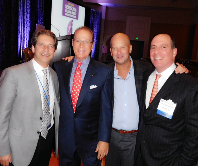 Dr. Brown (left) with plastic surgeons Pat Maxwell (Nashville), Lou Bucky (Philadelphia) and Jim Namnoum (Atlanta)