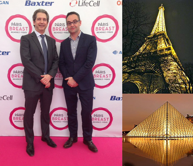 Dr. Brown and Dr. Jaume Masia from Barcelona at the Paris Breast Rendez-vous meeting, March 26-28, 2015